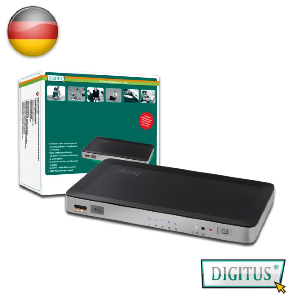曜兆DIGITUS HDMI ~DS-45300五入一出切換器(附遙控器)
