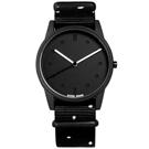HyperGrand LO-FI 首創印花設計 極簡面板 尼龍手錶-黑色/38mm