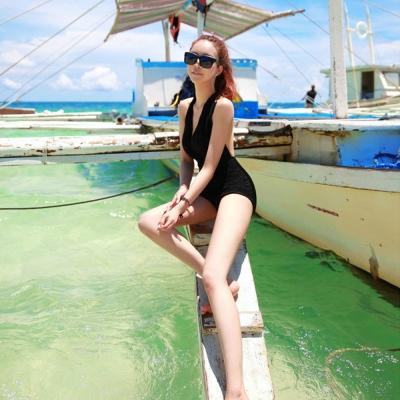 Biki比基尼妮泳衣   針織維多利亞女神大胸顯瘦泳衣(M-XL)