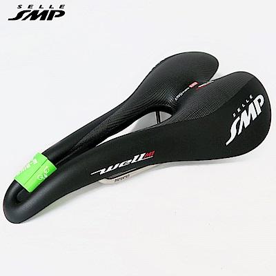 【SELLE SMP】義大利 WELL系列M1(LARGE)舒適登山公路型自行車座墊-黑