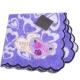 ANNA SUI 浪漫愛心貼布刺繡玫瑰字母LOGO小方巾(紫) product thumbnail 1