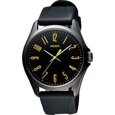 ORIENT 流行風尚石英腕錶-黑/ 43 mm