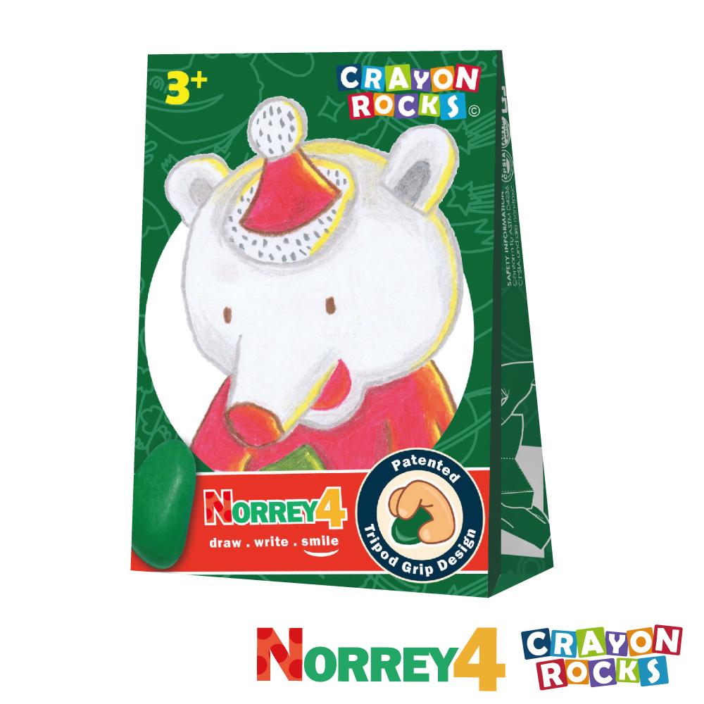 美國 Crayon Rocks 酷蠟石 - 聖誕熊 諾瑞 4色