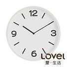 Lovel 30cm 純白寧夏簡約膠框壁掛時鐘(P300W-WH)