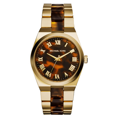 Michael Kors Channing 神秘塔羅高貴氣質腕錶-玳瑁x金/38mm