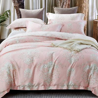 Saint Rose 和悅 加大100%純天絲全鋪棉床包兩用被套四件組