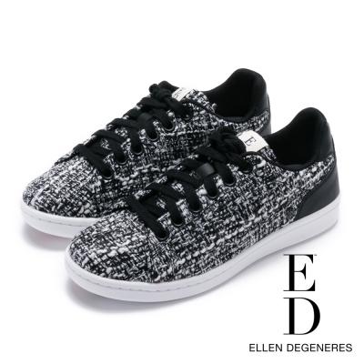 ED Ellen DeGeneres 拼接百搭綁帶休閒鞋-白色