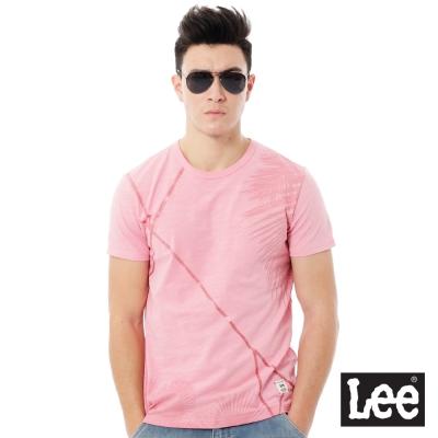 Lee  Regiona植物印花短袖T恤-男款-粉色