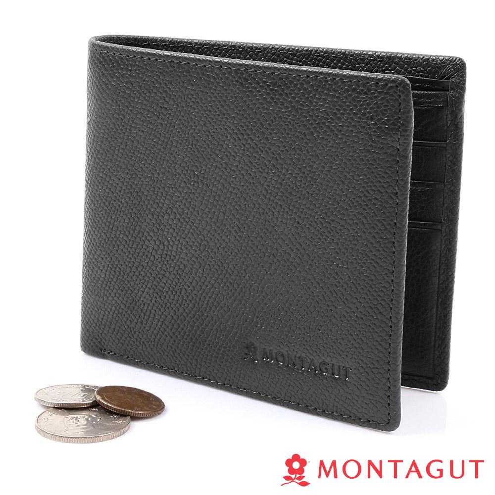MONTAGUT夢特嬌-頭層牛皮真皮 短夾(5卡1照2夾1零)