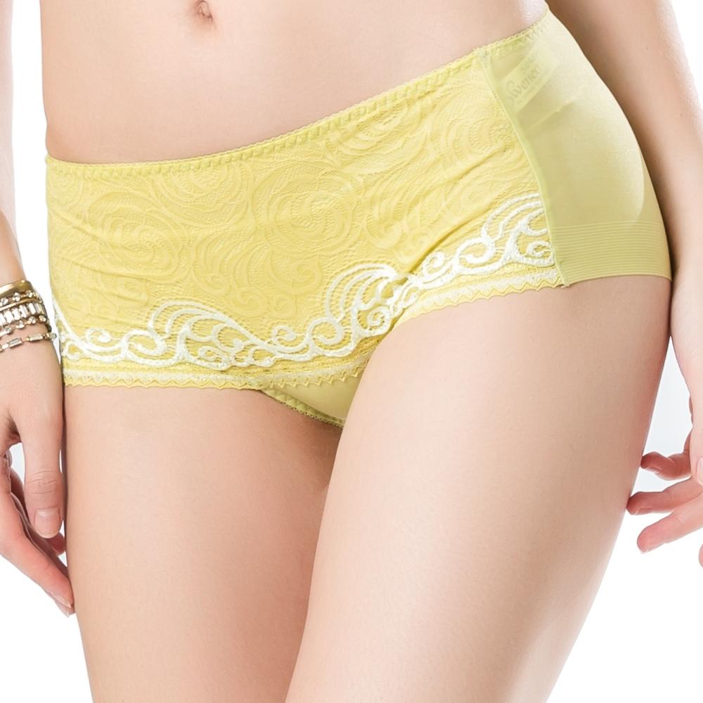 思薇爾 撩波系列蕾絲中低腰平口褲(楊桃綠)
