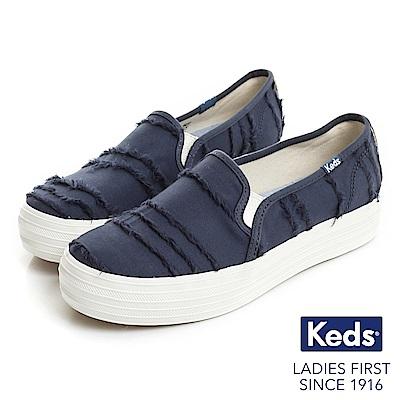 Keds TRIPLE KICK 休閒便鞋-靛藍