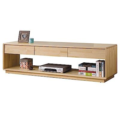 品家居 堤格6尺原木紋實木長櫃/電視櫃-180x45x50cm免組