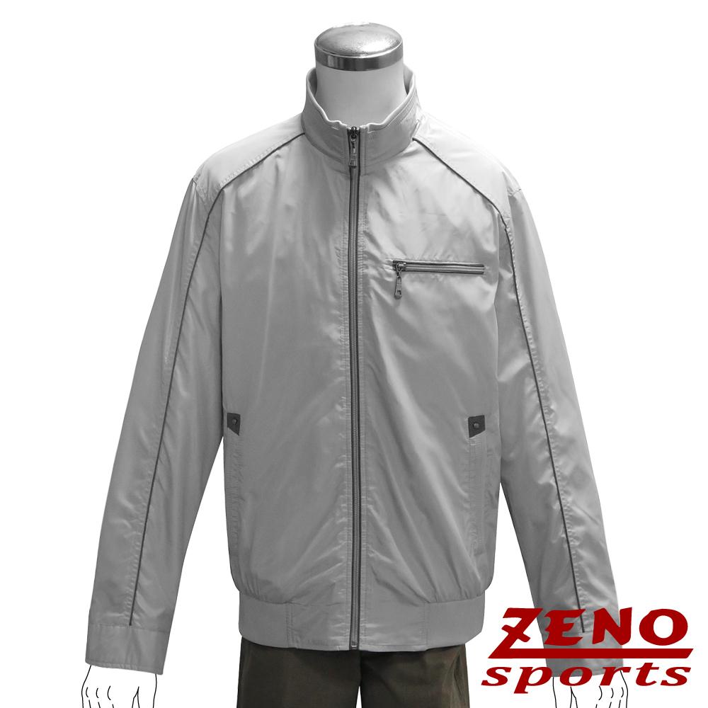 ZENO 防風立領輕薄外套‧淺灰L~XL