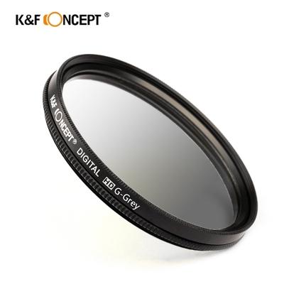 K&F Concept 超薄無暗角清晰漸變圓形濾鏡 灰色