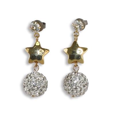 CARUTINA Star 系列甜美星星水晶球耳環(針式/夾式)