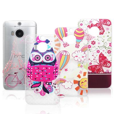 VXTRA HTC One M9+ / M9 Plus 法式浪漫 彩繪軟式手機殼