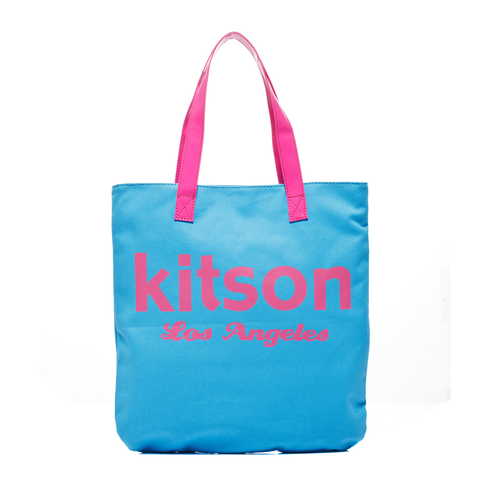 kitson 美式學院風方型托特包(BLUE)