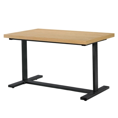 品家居 萊特4.3尺木紋休閒長方餐桌-130x80x76cm-免組