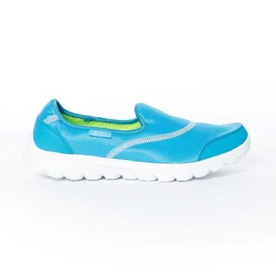 TOP GIRL-簡約健走無鞋帶懶人休閒鞋-淺藍