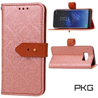 PKG  SAMSUNG S8 (5.2吋) 精緻皮套-側翻皮扣式-玫瑰金