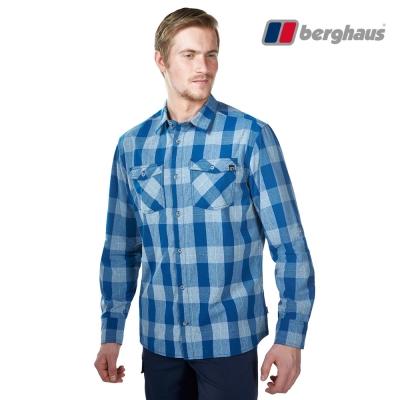 【Berghaus貝豪斯】男款銀離子抗菌除臭抗UV長袖襯衫S05M47灰藍