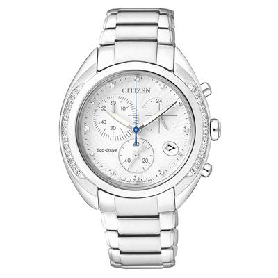 CITIZEN L系列 舞出自我光動能晶鑽腕錶(FB1381-54A)-銀/36mm