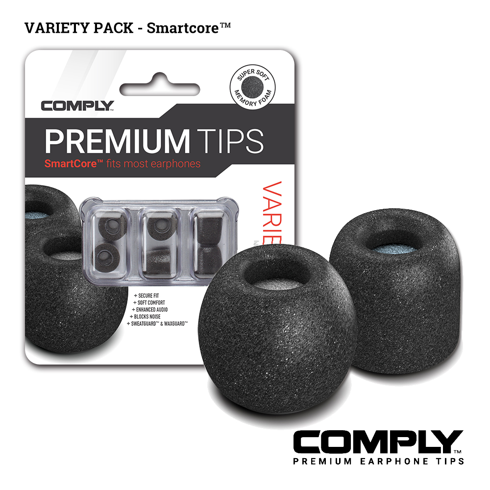 Comply SmartCore Variety 綜合包科技泡綿耳塞(3-pair)