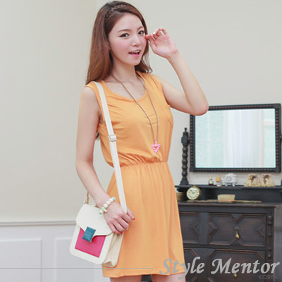 Style Mentor-亮眼配色峭立小方包 (白色)