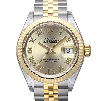 ROLEX 勞力士Datejust 279173蠔式半金日誌型腕錶-金羅/28mm