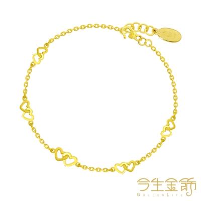 今生金飾 夢想之心手鍊 純黃金手鍊