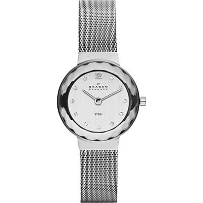 SKAGEN 經典小錶徑米蘭帶女錶-銀/25mm