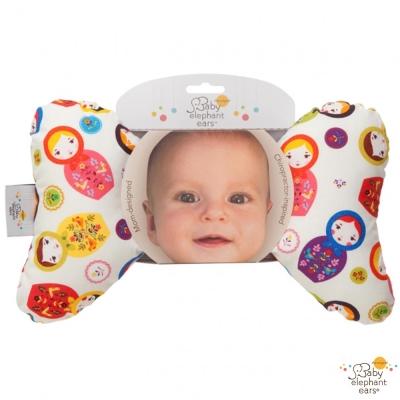 Baby Elephant Ears 俄羅斯娃娃款推車汽座護頸蝴蝶枕