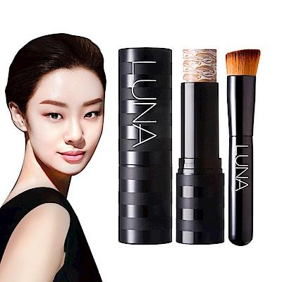 韓國LUNA 多效亮顏美肌粉底棒+粉刷套裝組合 #21 白皙色