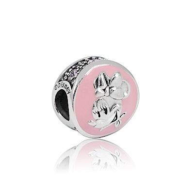 Pandora 潘朵拉 迪士尼復古粉色琺瑯米妮 純銀墜飾 串珠