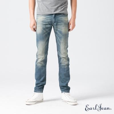 Earl Jean CoolMax純藍調低腰合身窄管褲-中藍-男