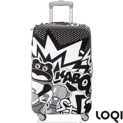 LOQI 行李箱套│小黑熊L號 適用28吋以上行李箱保護套