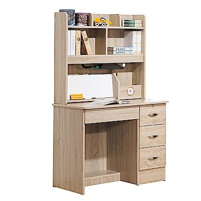 Bernice-奧利3尺書桌(上座+下座)-90x54x153cm
