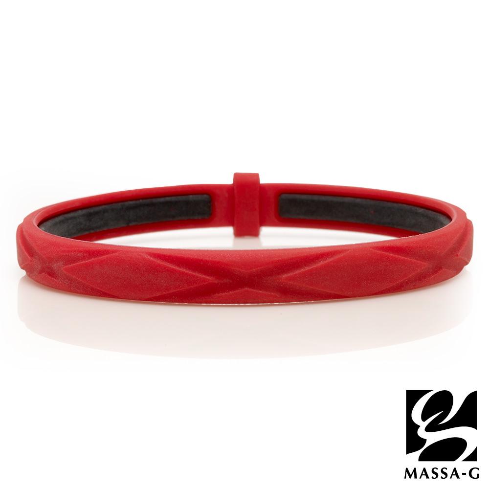 MASSA-G 繽紛炫彩鍺鈦能量手環-紅