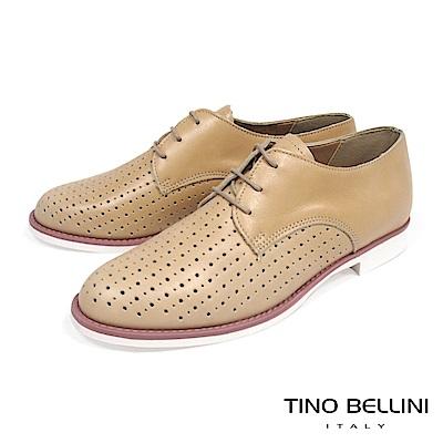 Tino Bellini 義大利進口大小沖孔綁帶紳士鞋_ 膚
