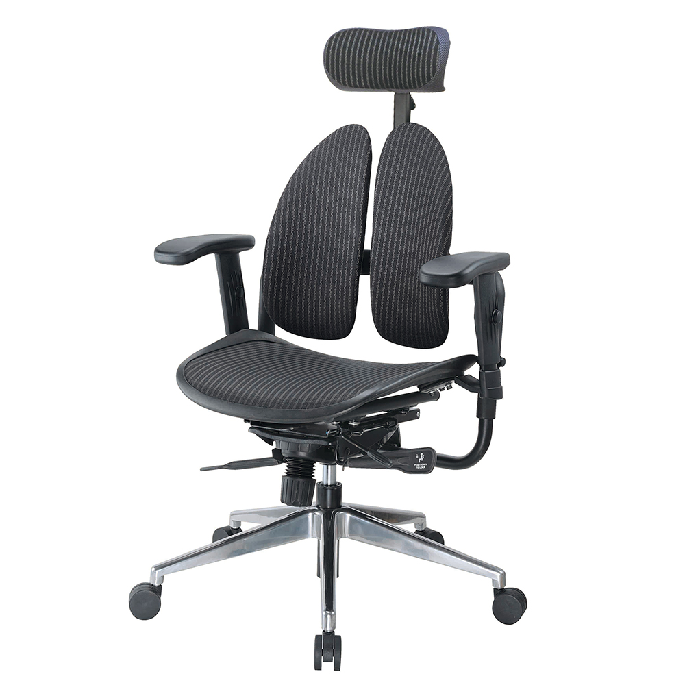 Boden-德國專利雙背多機能網布電腦椅-70x70x110~127cm