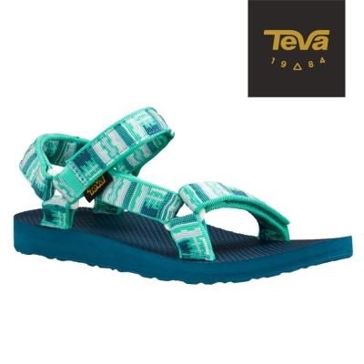 TEVA 美國-女 Original Universal 緹花織帶涼鞋 (印加綠)
