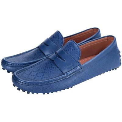GUCCI 經典鑽石紋豆豆休閒鞋(藍色)
