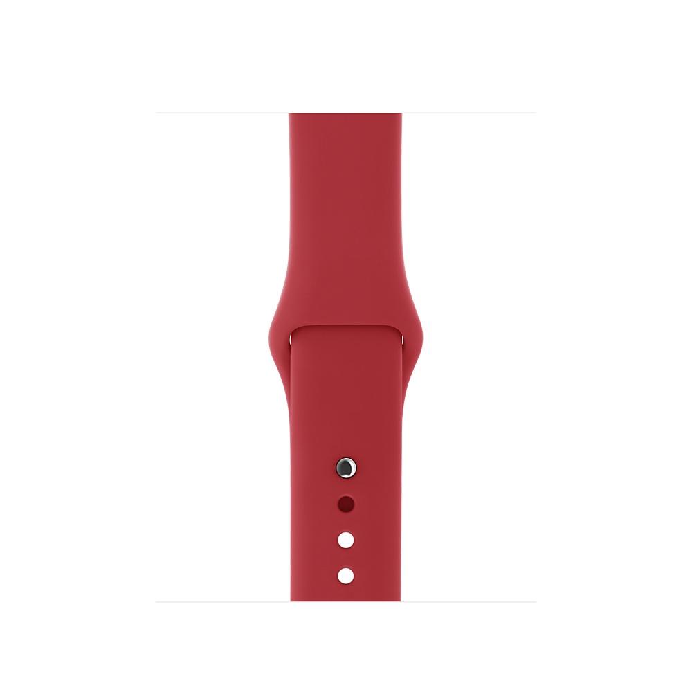 【Apple原廠公司貨】42公釐(PRODUCT)RED運動型錶帶(S/M與M/L)