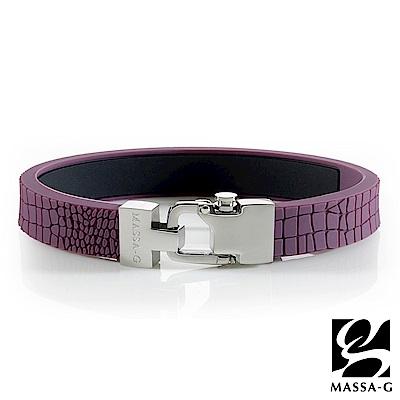 MASSA-G【絕色風尚】鍺鈦能量手環-木槿紫
