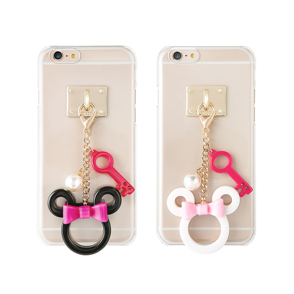 DDPOP iPhone 6 6S韓流明星手機殼可愛Mouse吊飾款