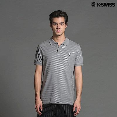 K-Swiss A/O PT Shield Polo短袖POLO衫-男-灰