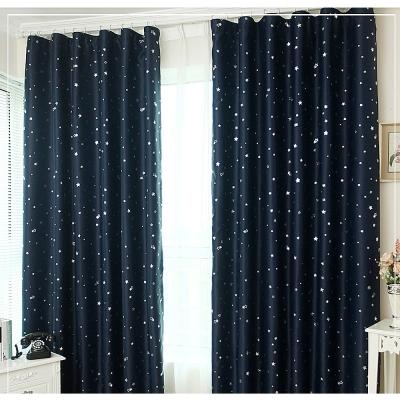 布安於室-星辰單層雙用窗簾-深藍-寬100x高130cm