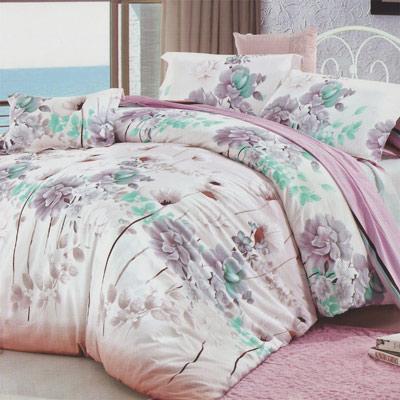 羽織美 曼妙花舞 精梳棉加大四件式被套床包組