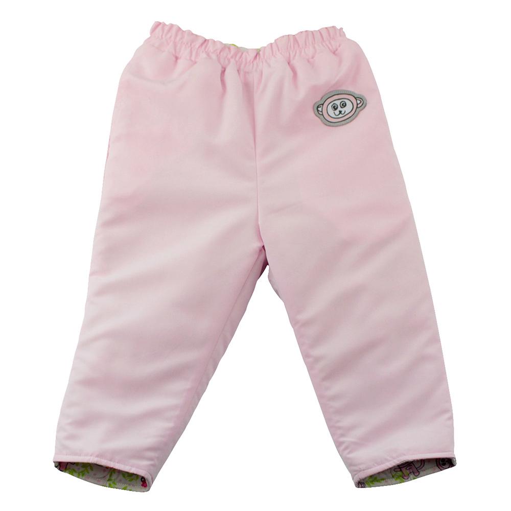 愛的世界 SUPERMINI 保暖舖棉兩面穿長褲-淺粉/3~4歲