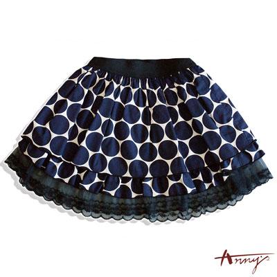 經典復刻大玉點點蕾絲鬆緊短裙*6188藍